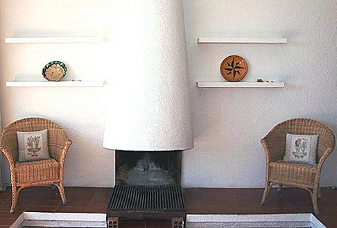 Beautifully designed fireplace in the house in Cadaqués