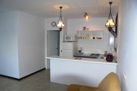 View into the open kitchen